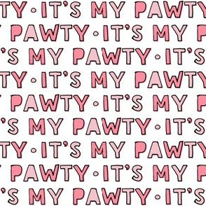 It's my party - pink