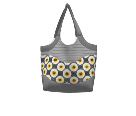 Contemporary  Burst Bloom -Grey/Yellow