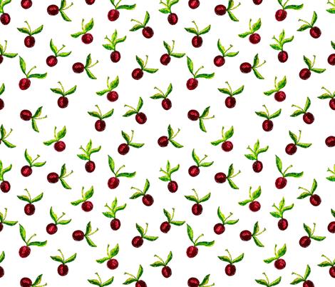 Juicy cherries fabric by katrinkastem on Spoonflower - custom fabric