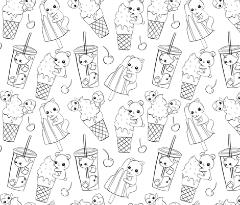 Summertime fabric by nagorerodriguezdesign on Spoonflower - custom fabric