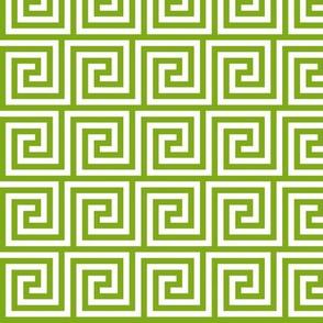 Geometric Pattern: Key Spiral: Green