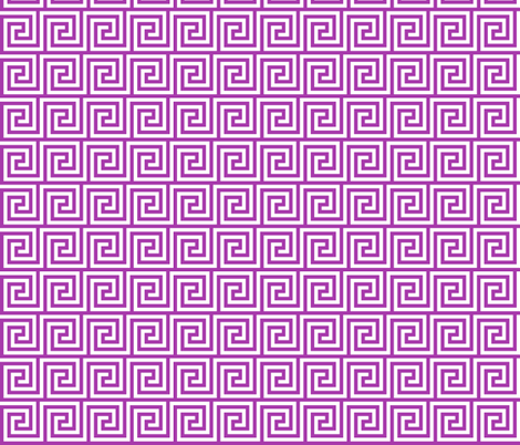 Geometric Pattern: Key Spiral: Purple fabric by red_wolf on Spoonflower - custom fabric