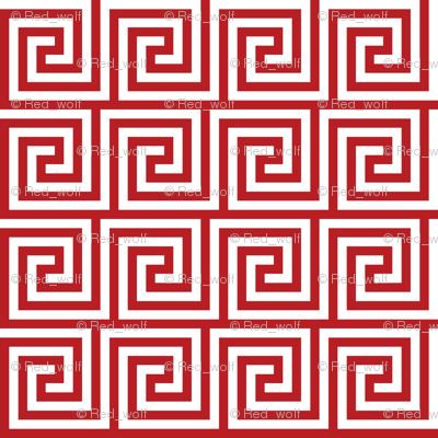 Geometric Pattern: Key Spiral: Red