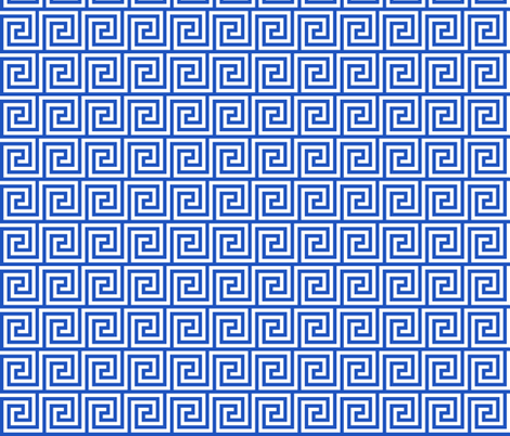 Geometric Pattern: Key Spiral: Blue fabric by red_wolf on Spoonflower - custom fabric