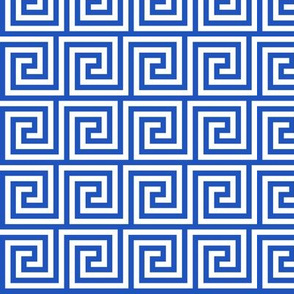 Geometric Pattern: Key Spiral: Blue