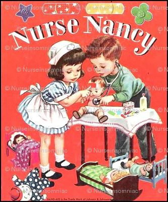 Nurse Nancy Bookcover/Red