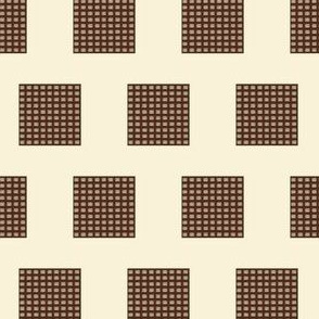 Chocolate Waffle Wafers