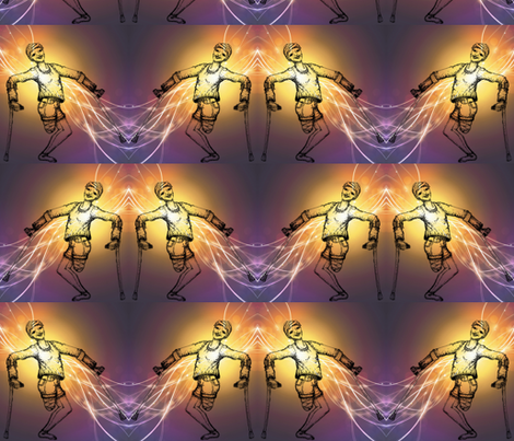 Happy amputee-energized fabric by cloudsong_art on Spoonflower - custom fabric