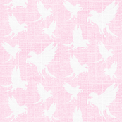 Flock of Pegasus on Pink Chambray