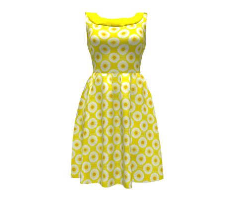 Contemporary Burst Bloom -so sunny yellow