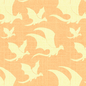 Yellow Orange Chambray Baby Dragon