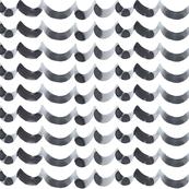 Grey white watercolor ocean waves