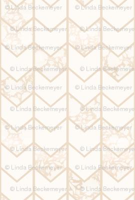 Cream Floral Chevron Pattern