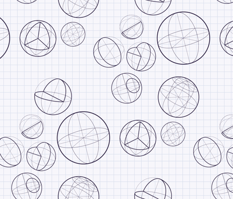 Isometric ball  fabric by liliya_sudakova on Spoonflower - custom fabric