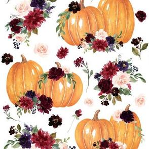 """4"""" Pumpkin Spice Floral"""