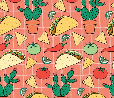 Taco Night fabric by charladraws on Spoonflower - custom fabric