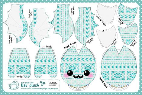 Cut & Sew Bat Plush Sweater fabric by sewdesune on Spoonflower - custom fabric
