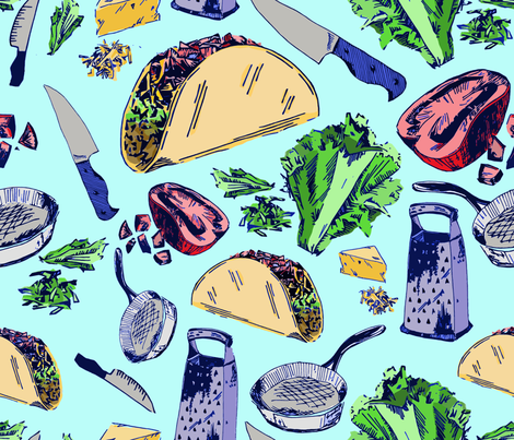 Nacho Average Taco fabric by halestormed on Spoonflower - custom fabric