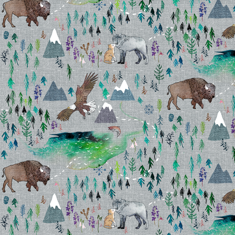 The Boreal (SML) fabric by nouveau_bohemian on Spoonflower - custom fabric