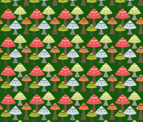 Toadstools fabric by wiren_creative on Spoonflower - custom fabric