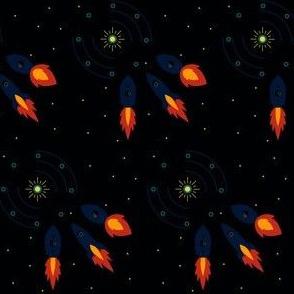 Rocket Ships - Black 1