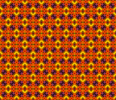 Aztec Fire Blocks fabric by just_meewowy_design on Spoonflower - custom fabric