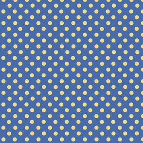 Blue and yellow polkadots