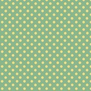 Green and yellow polkadots