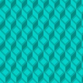 Geometric Pattern: Diamond Chevron: Aqua