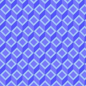 Geometric Pattern: Diamond Chevron: Blue