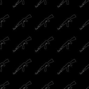 AK, Outline on Black