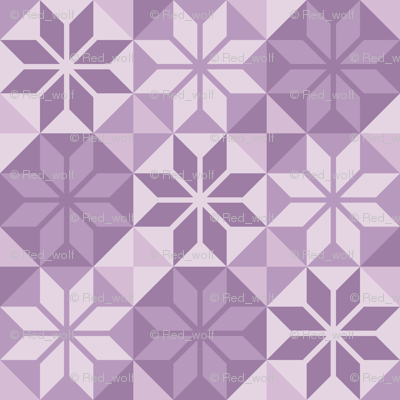 Geometric Pattern: Eight Petal Flower: Purple