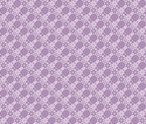 Geometric Pattern: Eight Petal Flower: Purple fabric by red_wolf on Spoonflower - custom fabric
