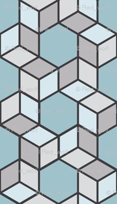 Geometric Pattern: Hexagon Box: Winter