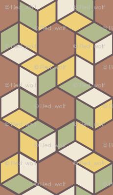 Geometric Pattern: Hexagon Box: Autumn