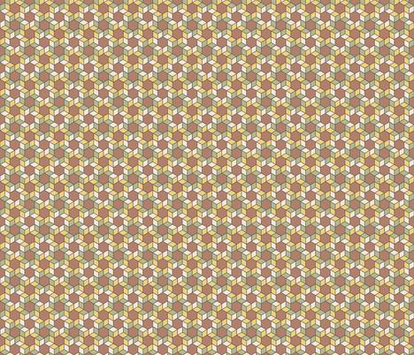 Geometric Pattern: Hexagon Box: Autumn fabric by red_wolf on Spoonflower - custom fabric