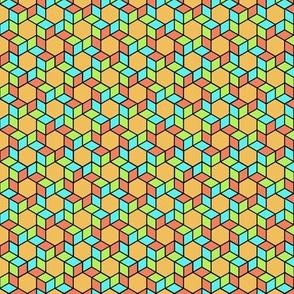 Geometric Pattern: Hexagon Box: Summer