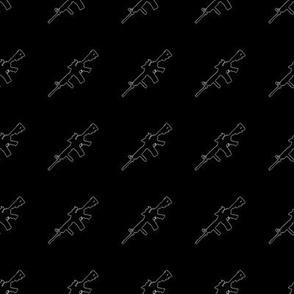 M4, Outline on Black