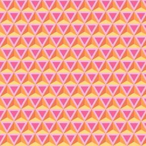 Geometric Pattern: Triangle: Orange/Pink