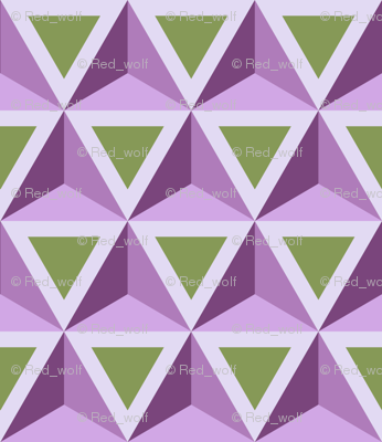 Geometric Pattern: Triangle: Green/Purple