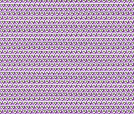 Geometric Pattern: Triangle: Green/Purple fabric by red_wolf on Spoonflower - custom fabric