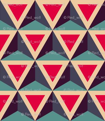 Geometric Pattern: Triangle: Blue/Red