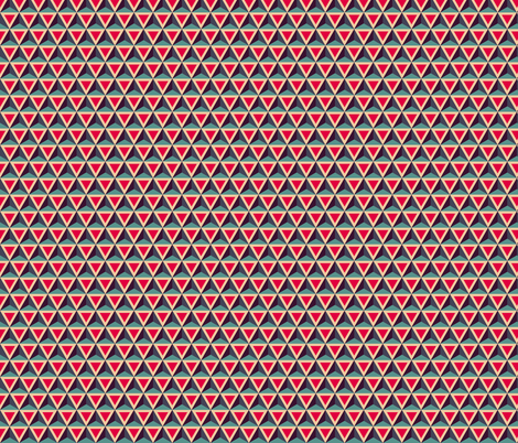 Geometric Pattern: Triangle: Blue/Red fabric by red_wolf on Spoonflower - custom fabric