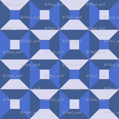 Geometric Pattern: Square Check: Winter
