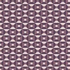 Geometric Pattern: Square Check: Autumn