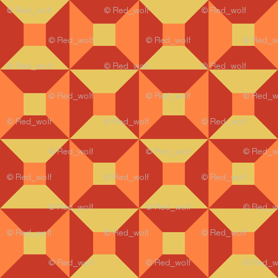 Geometric Pattern: Square Check: Summer