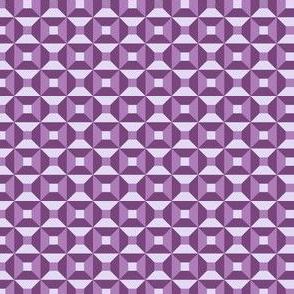 Geometric Pattern: Square Check: Purple