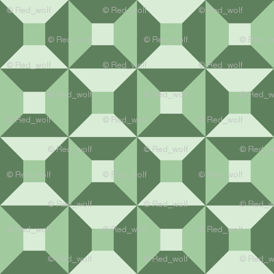 Geometric Pattern: Square Check: Spring