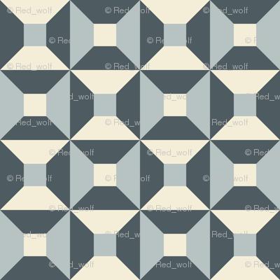 Geometric Pattern: Square Check: Steel