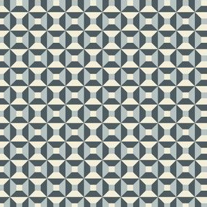 Geometric Pattern: Square Check: Steel